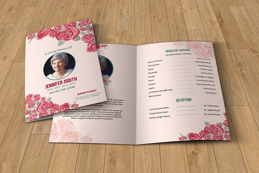 floral funeral brochure