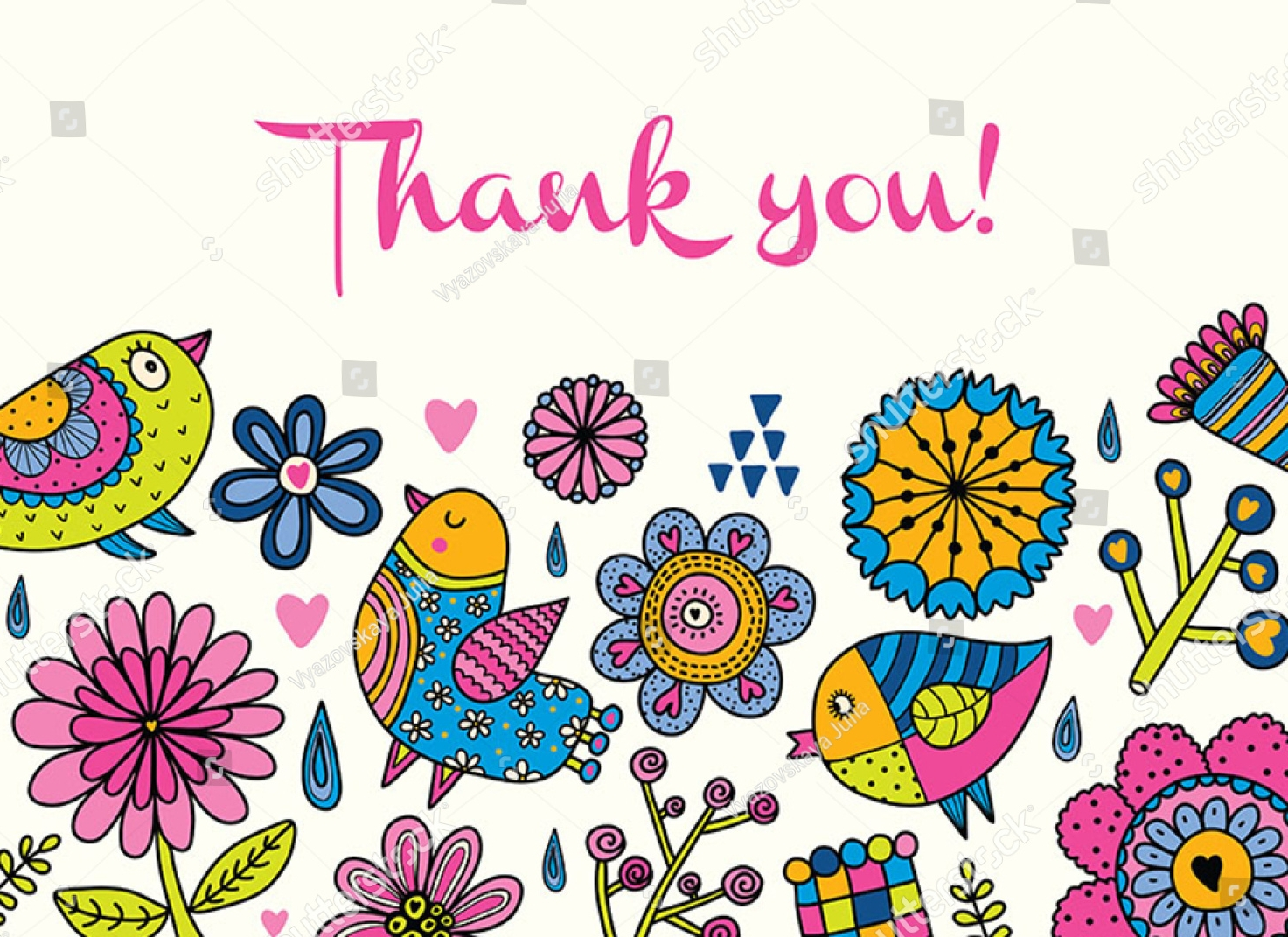floral kids thank you card1