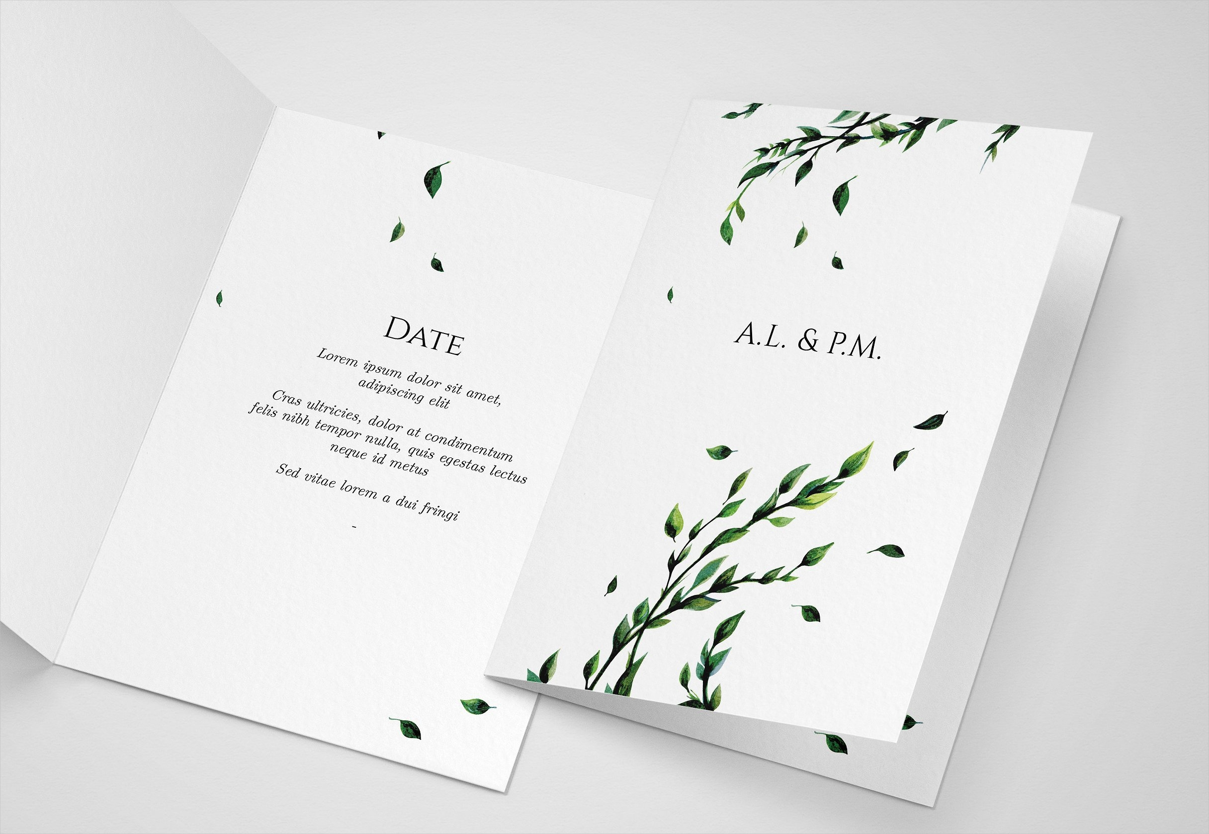 floral watercolor wedding invitation1