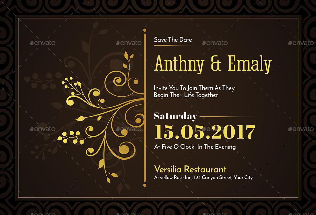 floral wedding invitation2