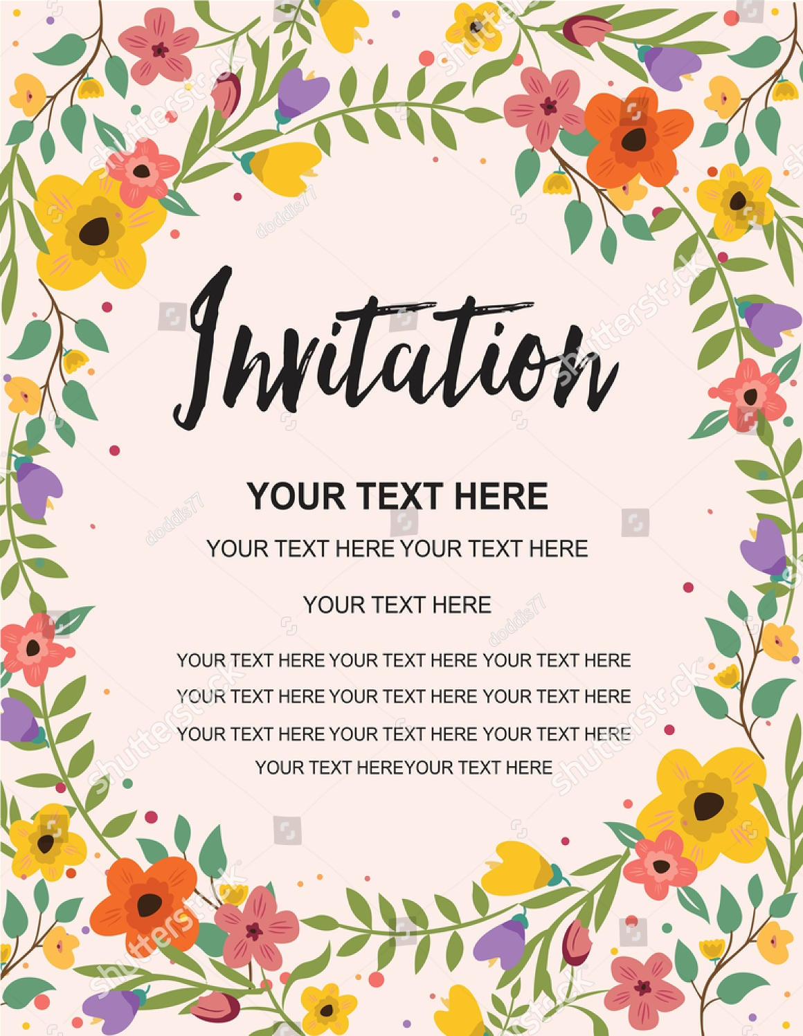 floral wedding invitation3