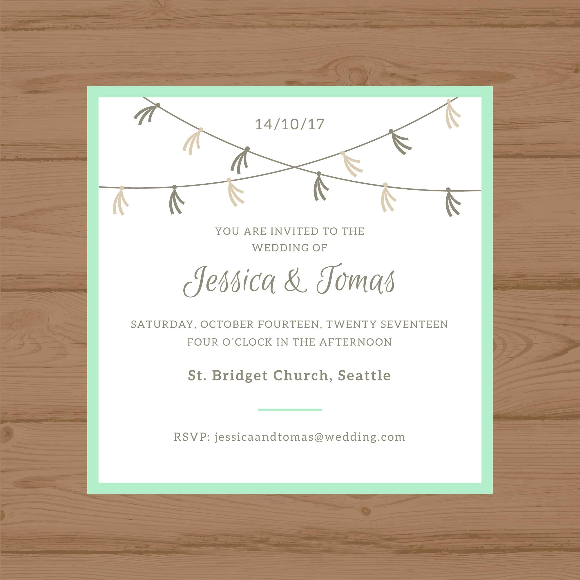 free minimalist wedding invitation template