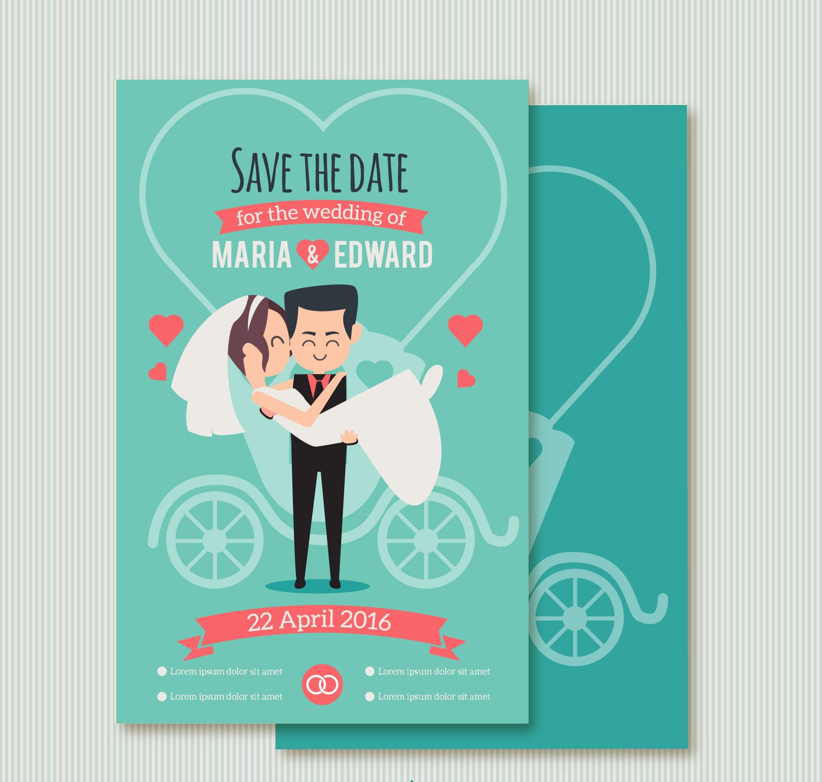 funny couple wedding invitation
