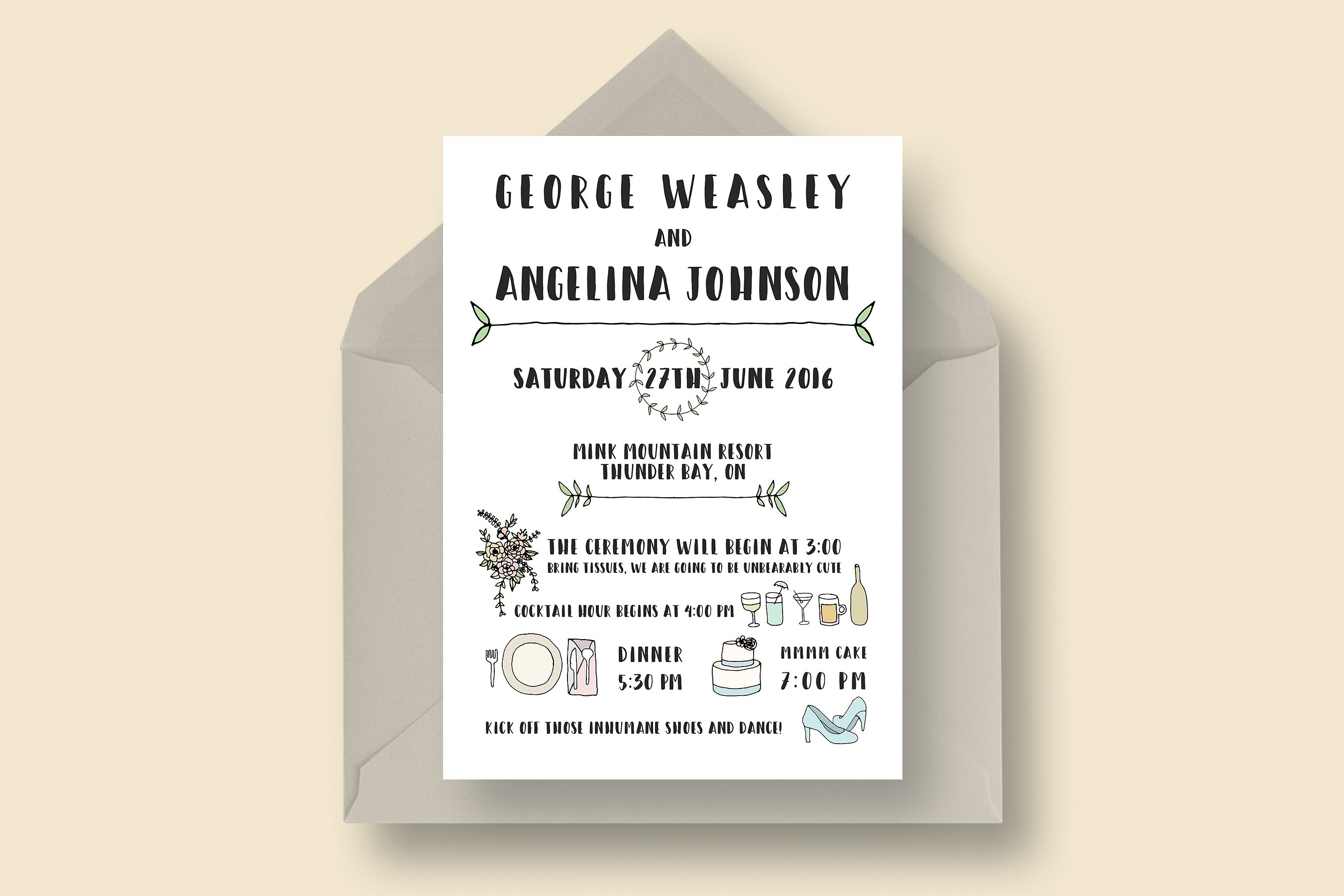 16 Funny Wedding Invitation Designs And Examples Psd Ai