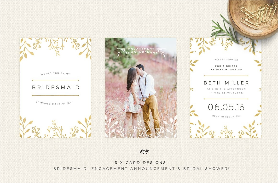 gold floral wedding invitation1
