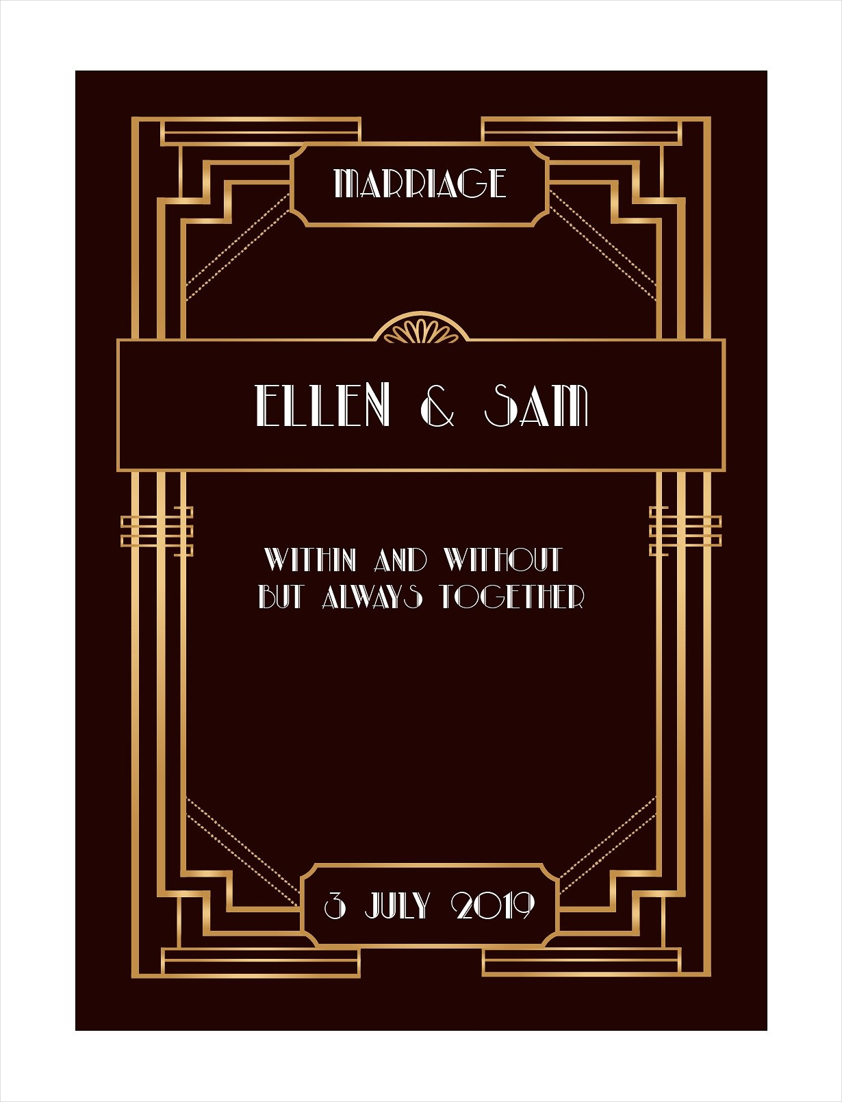 gold and black gatsby art deco vintage wedding invitation1