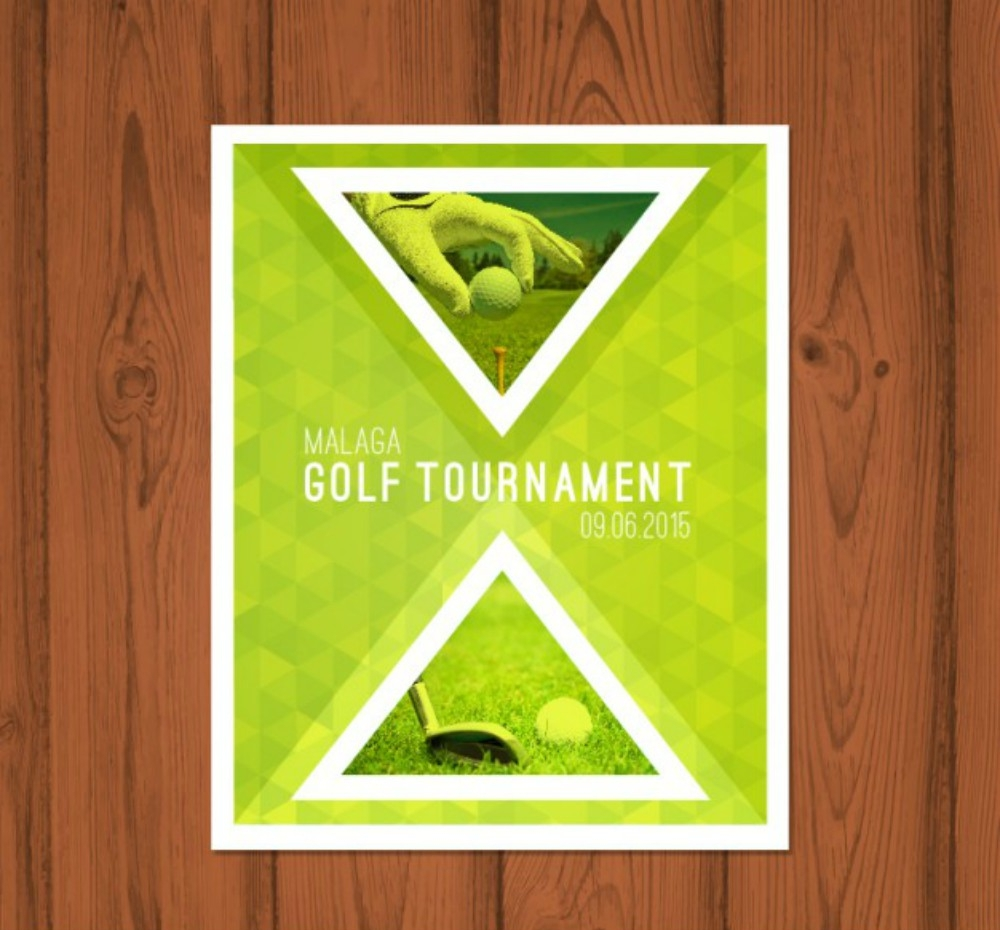 golf tournament sports brochure