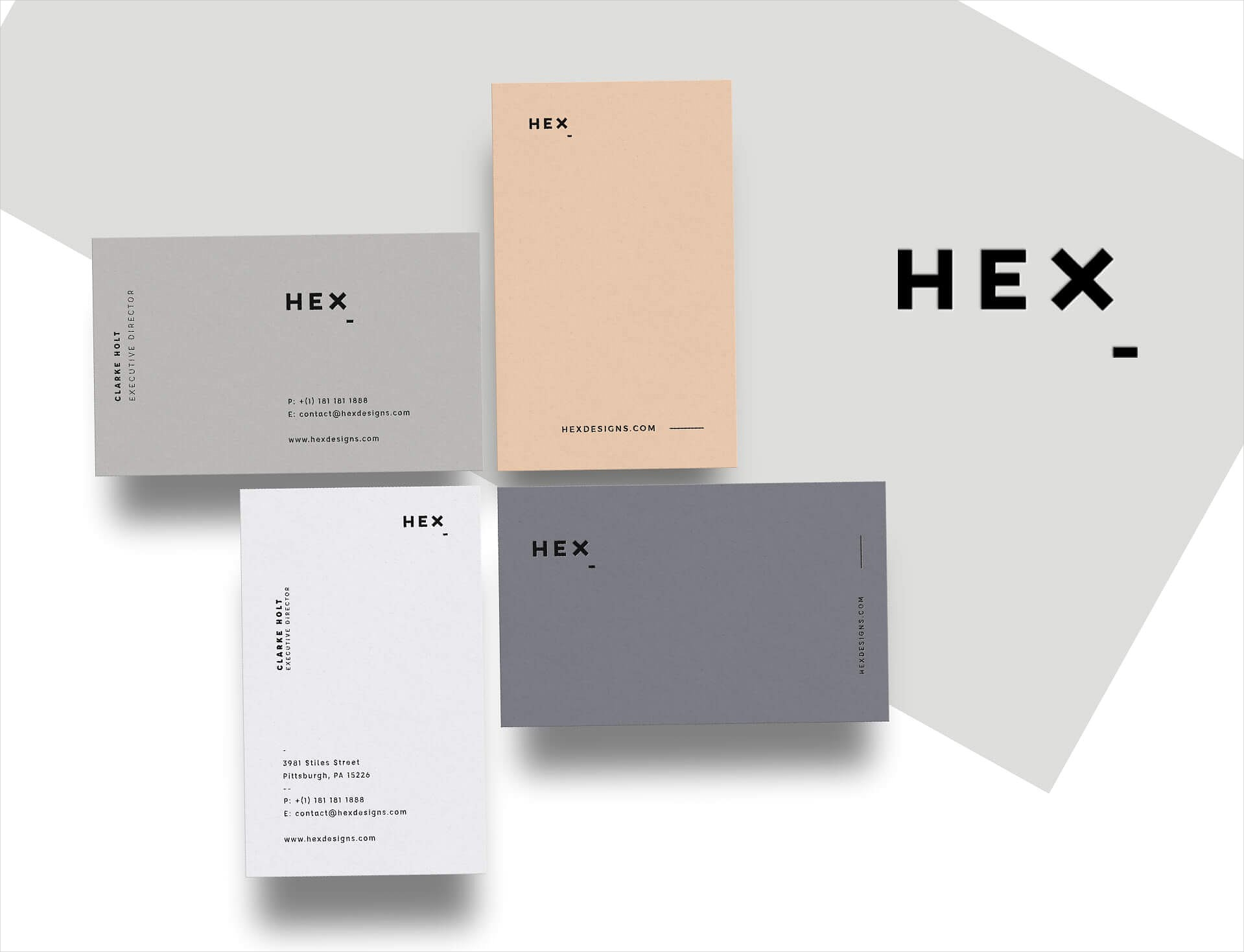 hex business card