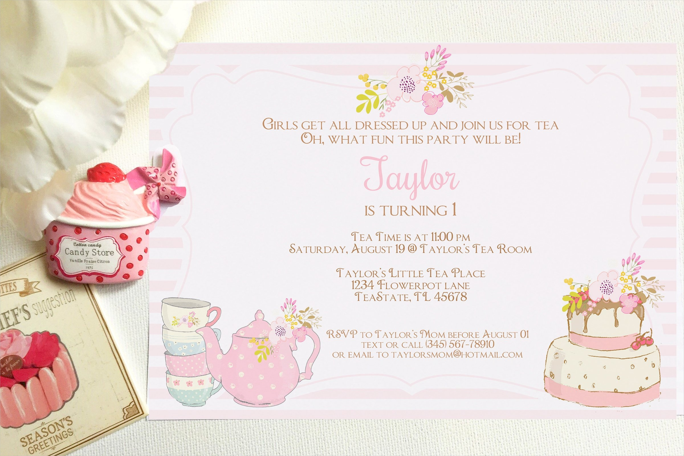 high tea party invitations