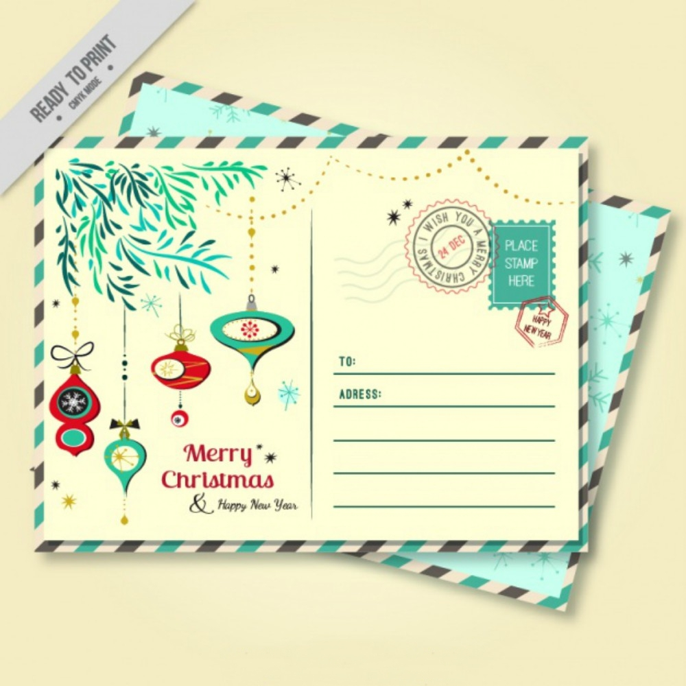 holiday decorative postcard