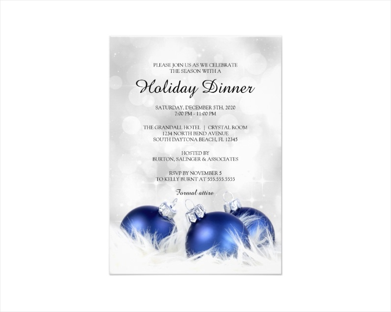 holiday dinner invitation