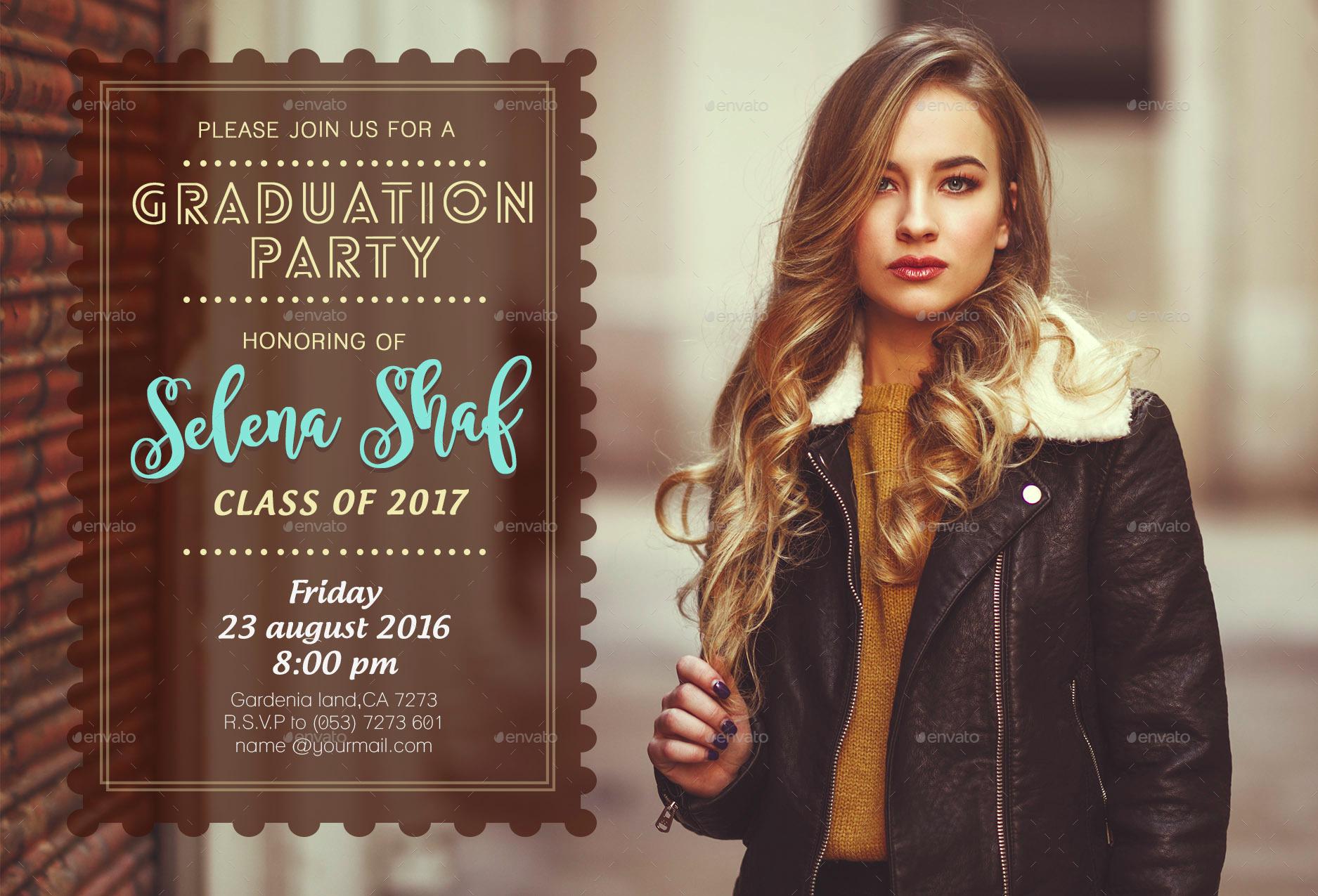 honourable graduation party invitation