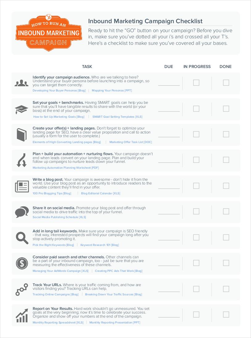 inbound marketing campaign checklist1