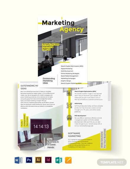 marketing bi fold brochure template