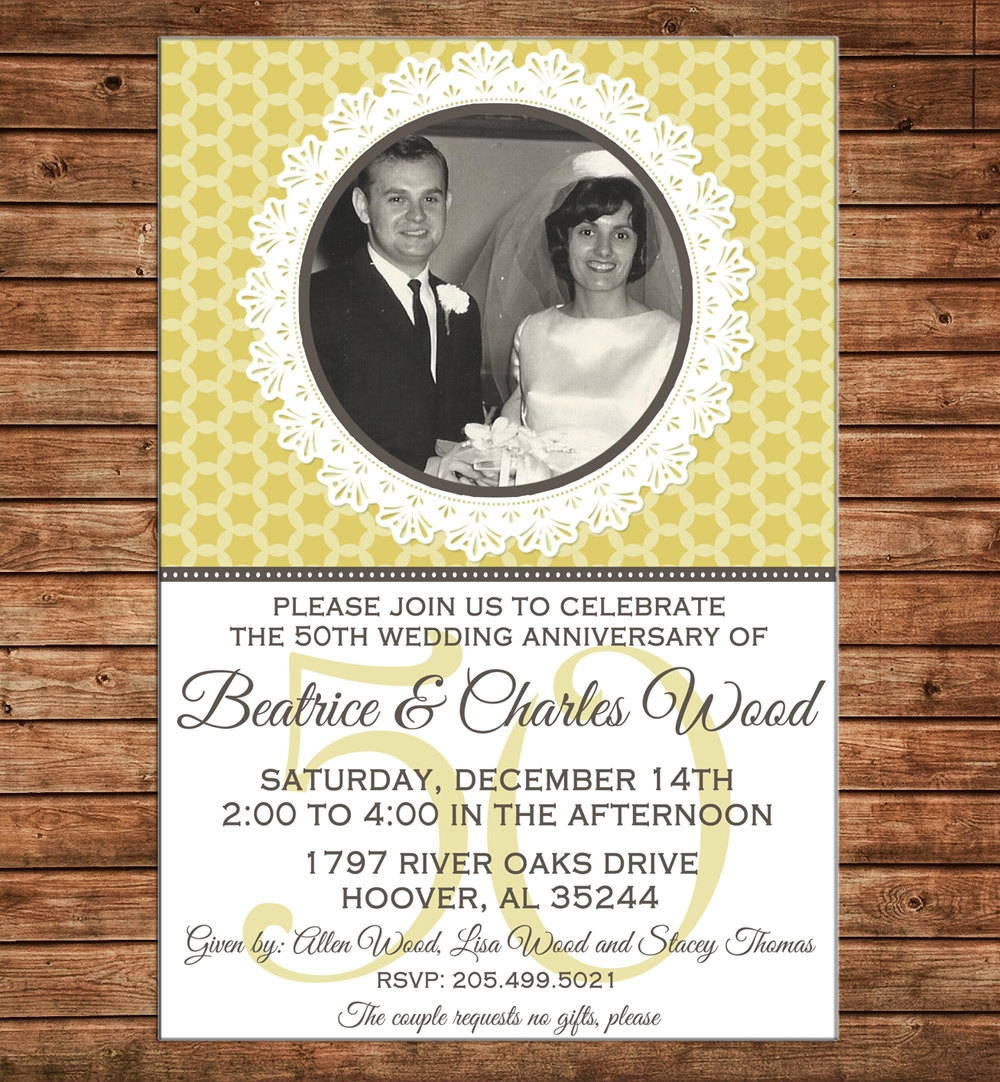 milestone wedding anniversary invitation
