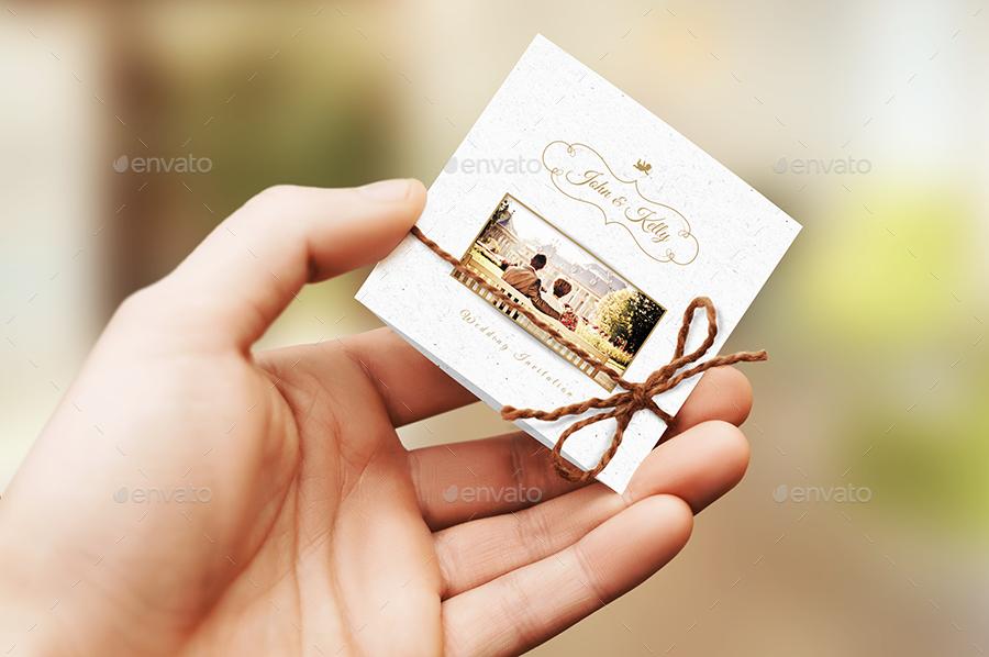 mini wedding photo invitation