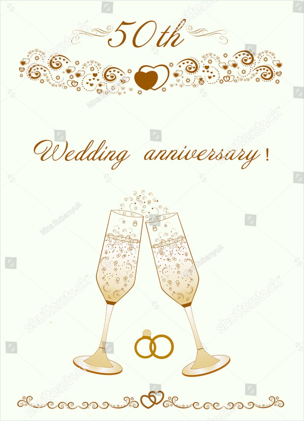 modern 50th wedding anniversary invitation2