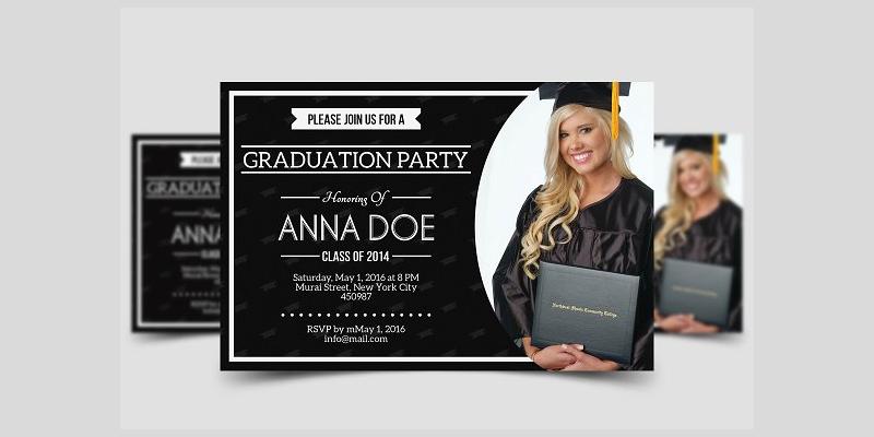 modern graduation party invitation