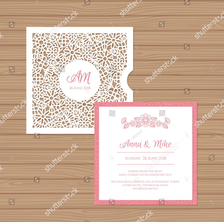 modern wedding card invitation