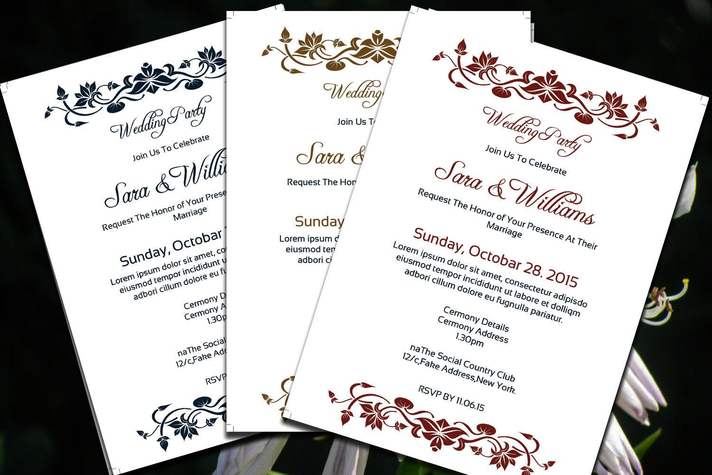 modern wedding party invitation