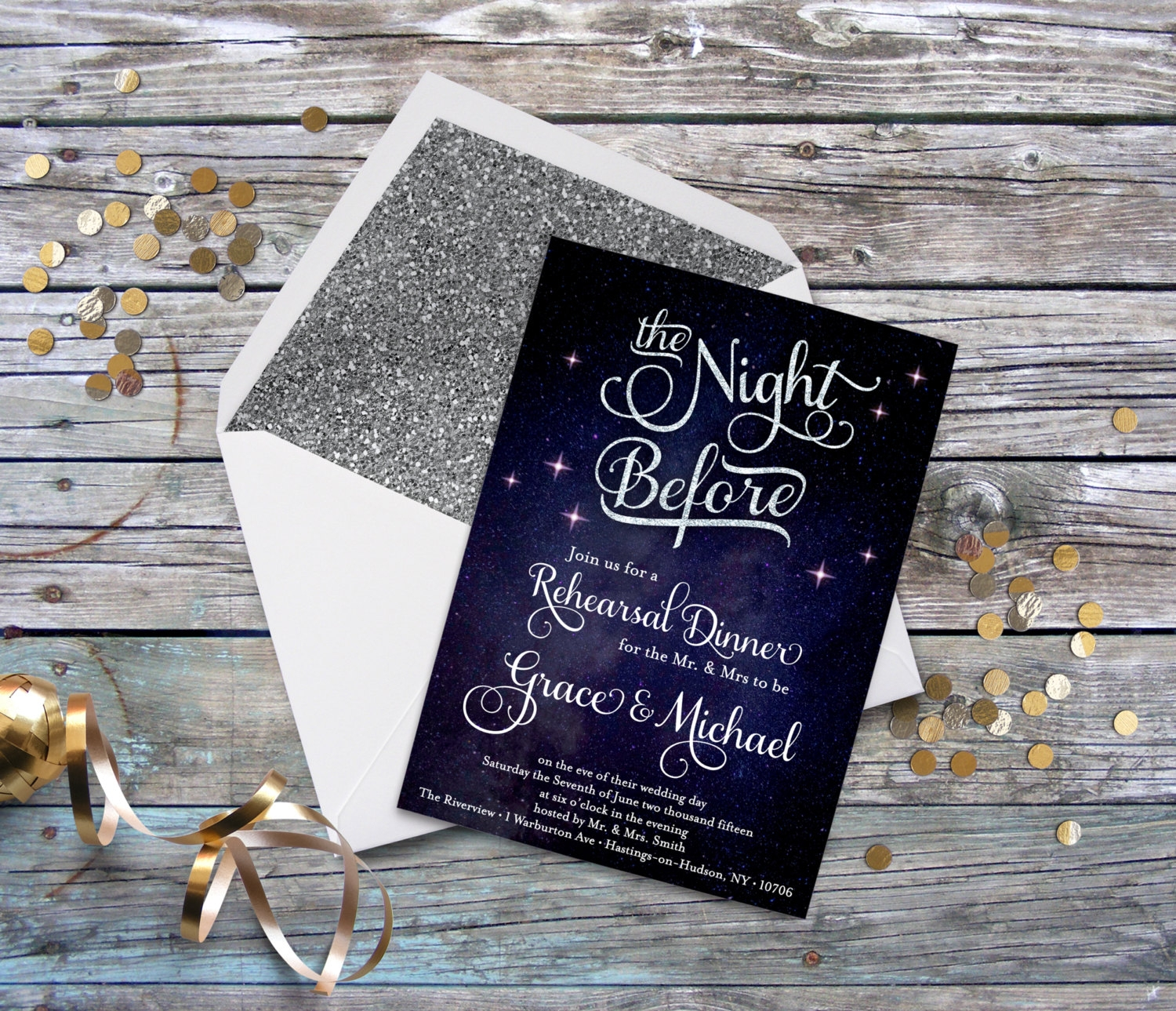 night before wedding rehearsal invitation
