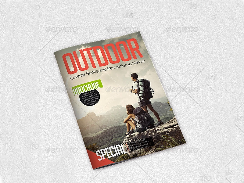 outdoor extreme sports brochure
