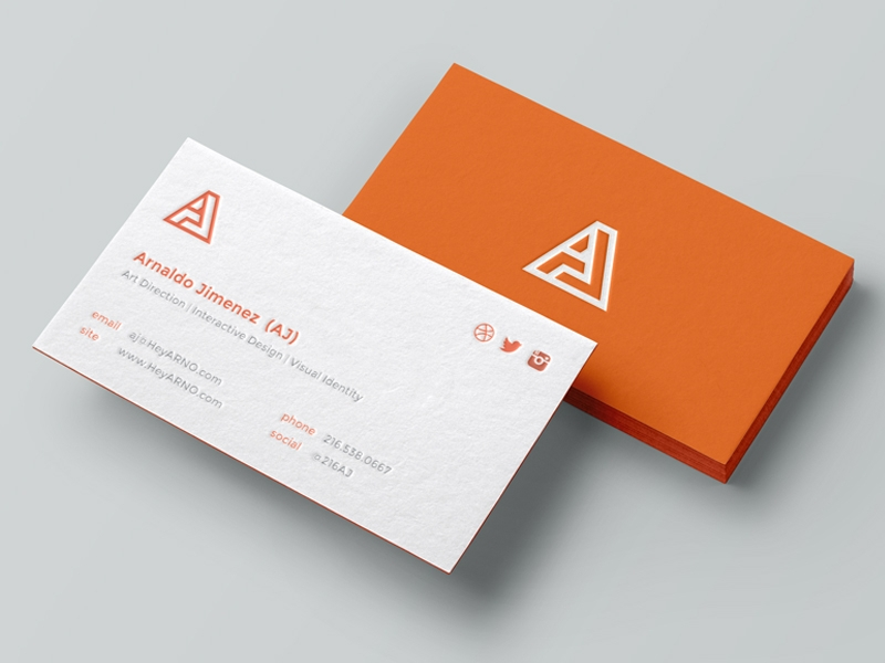 Examples Of Best Business Cards - Personal business cards template