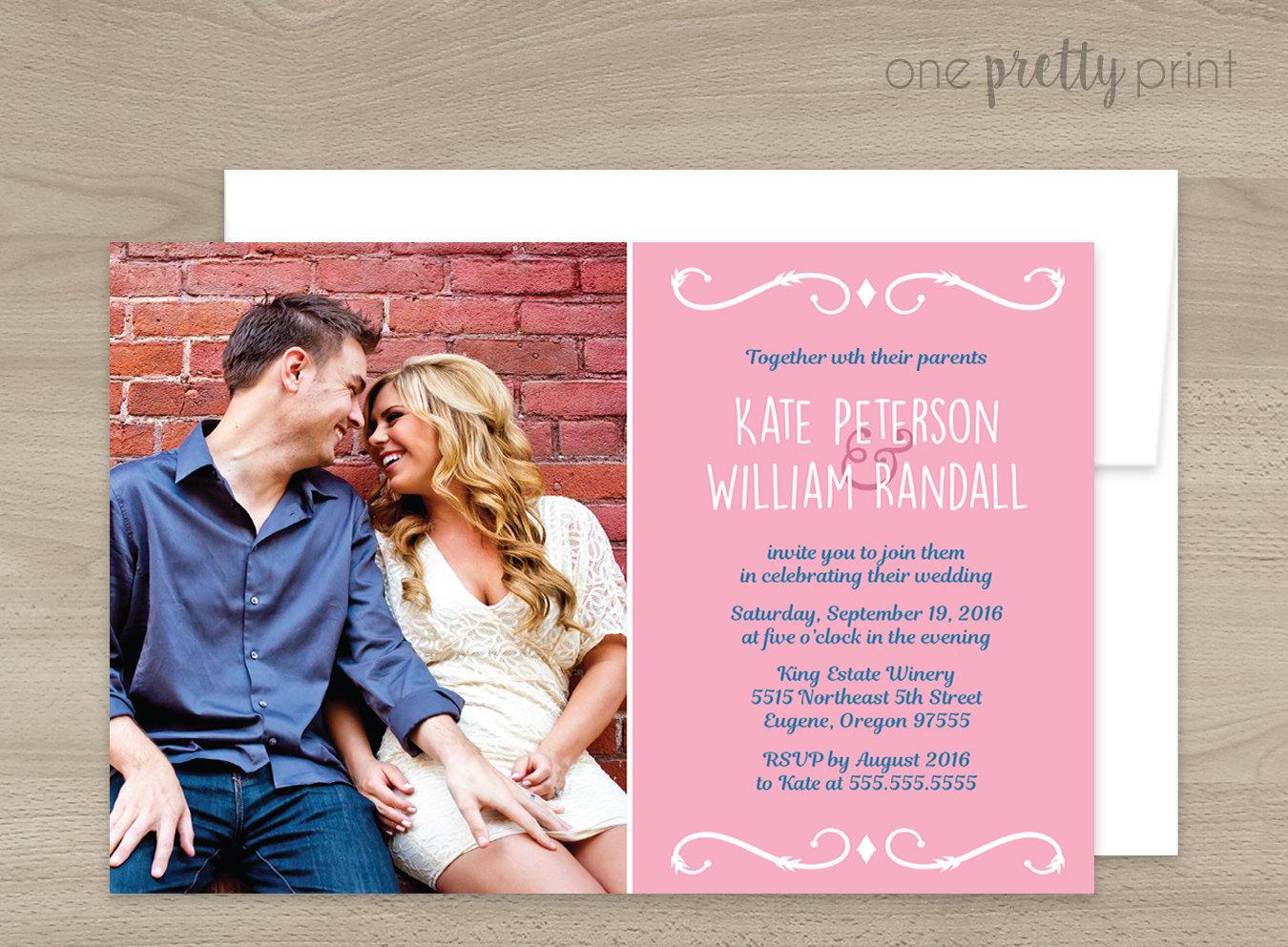 personalized photo wedding invitation