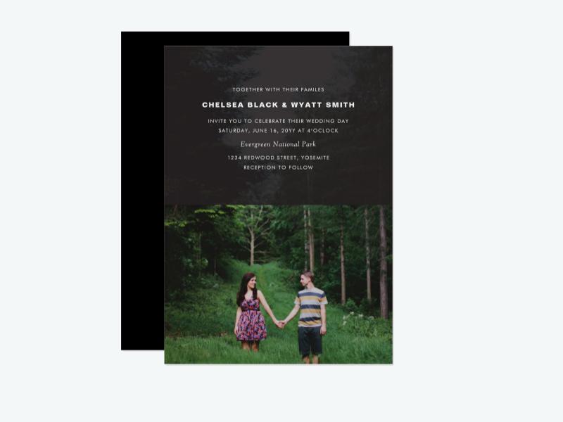 photo overlay wedding invitation