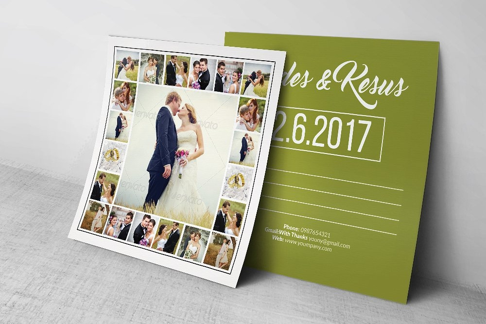 photo wedding postcard design