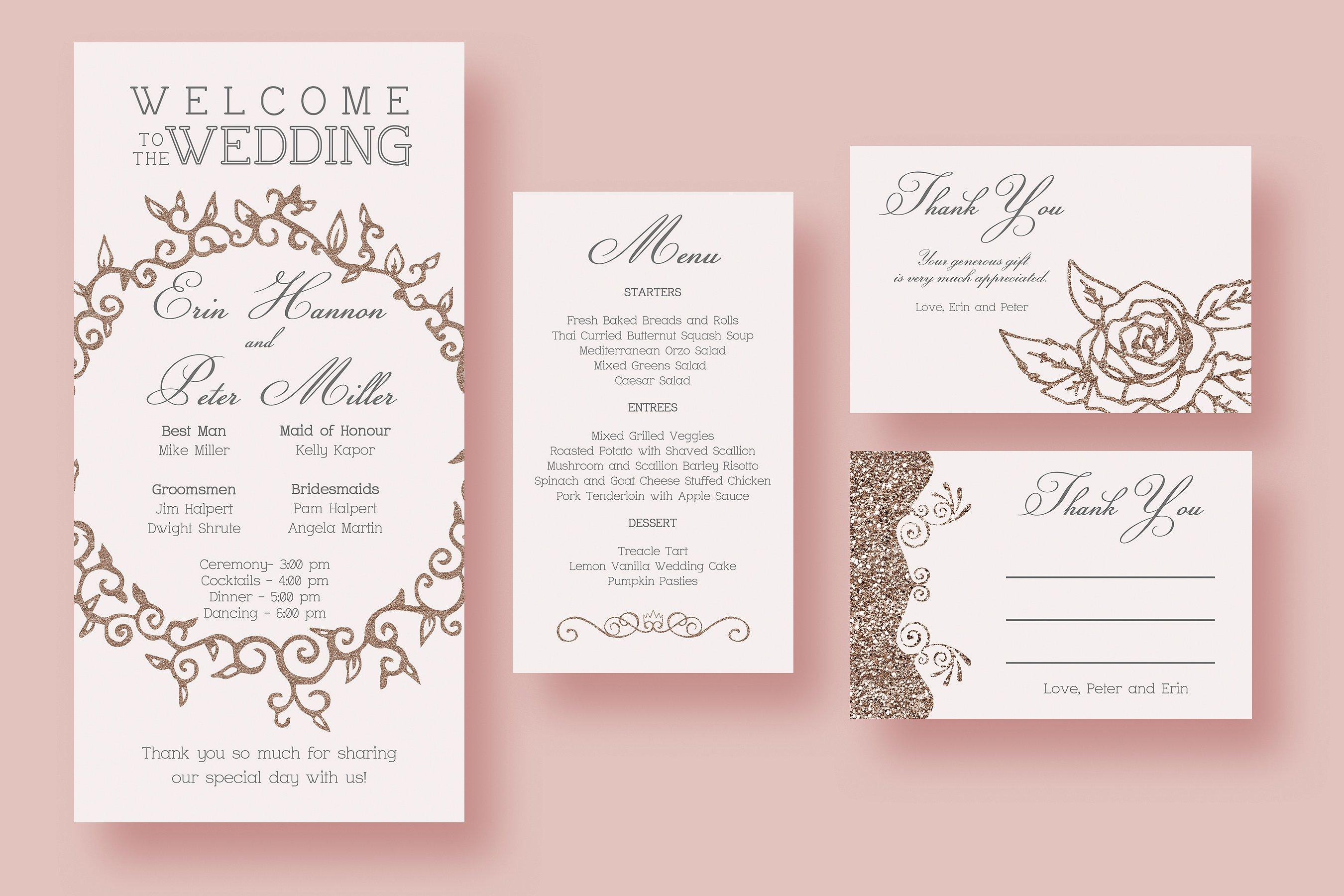 pink fairytale wedding invitations