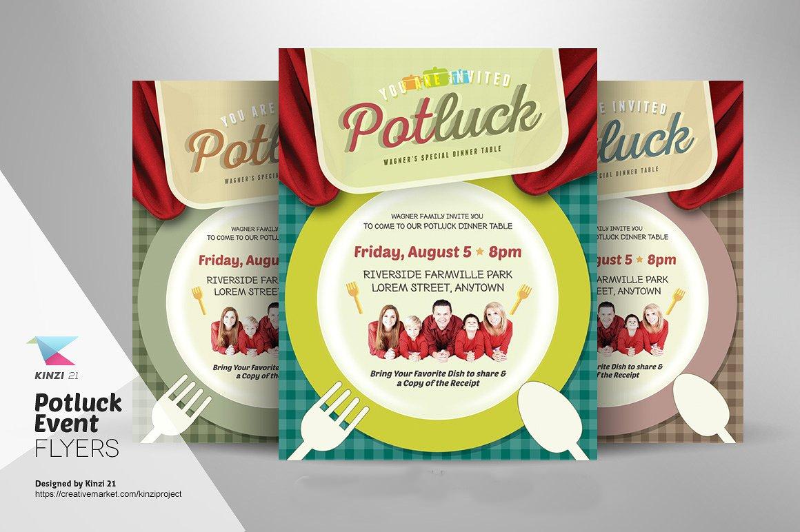 potluck dinner invitation