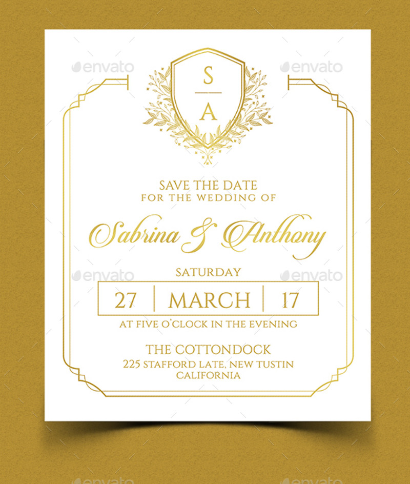 printable elegant wedding invitation