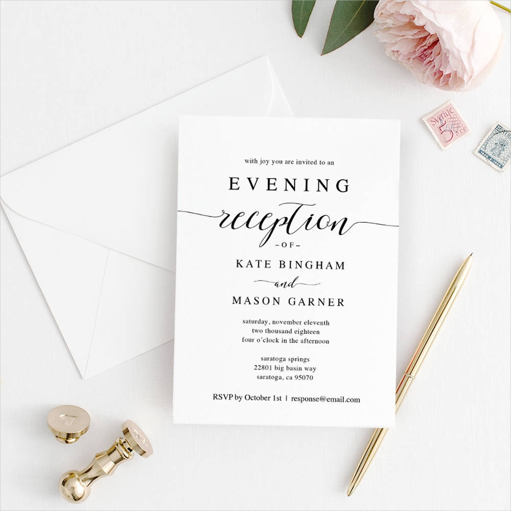 Free 16 Classic Wedding Reception Invitation Designs Examples