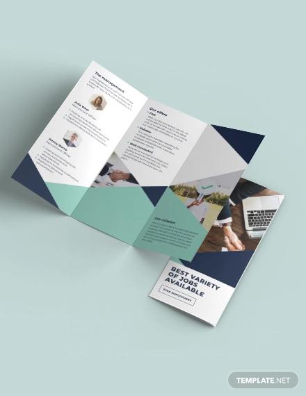 recruitment tri fold brochure template1