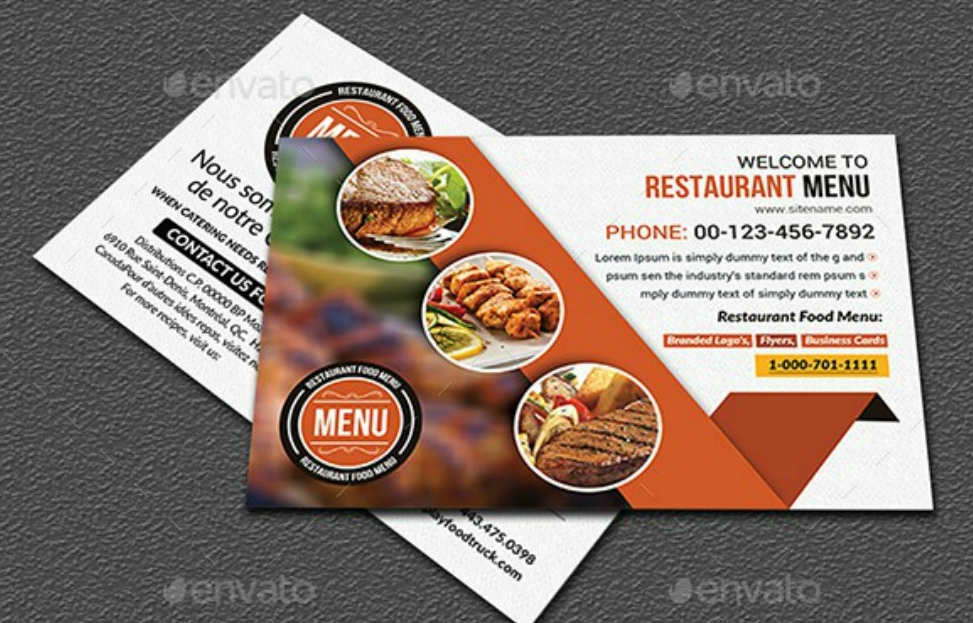 restaurant postcard template