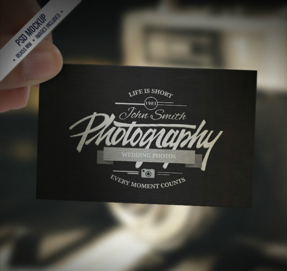 retro style photography business card
