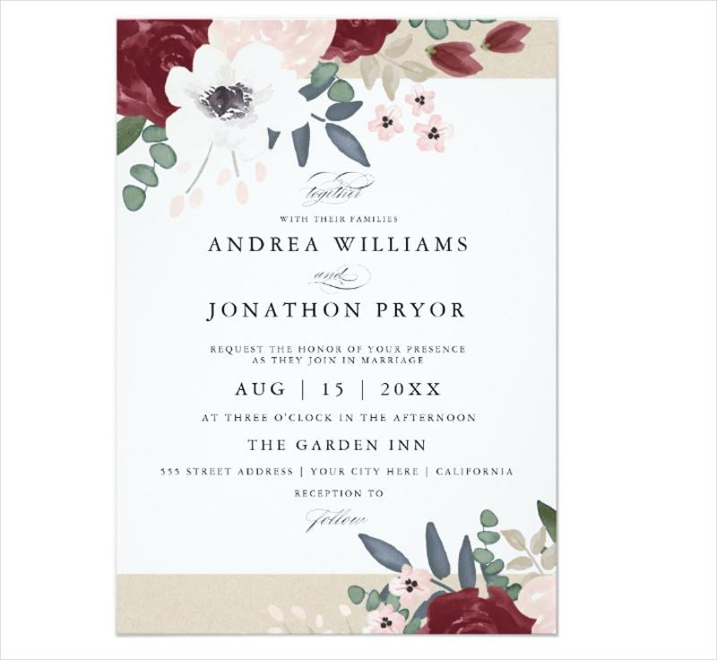 romantic floral wedding invitation1