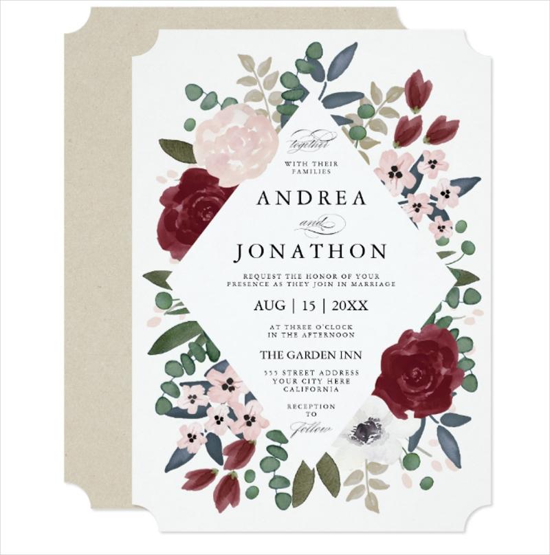 romantic floral wedding invitation2
