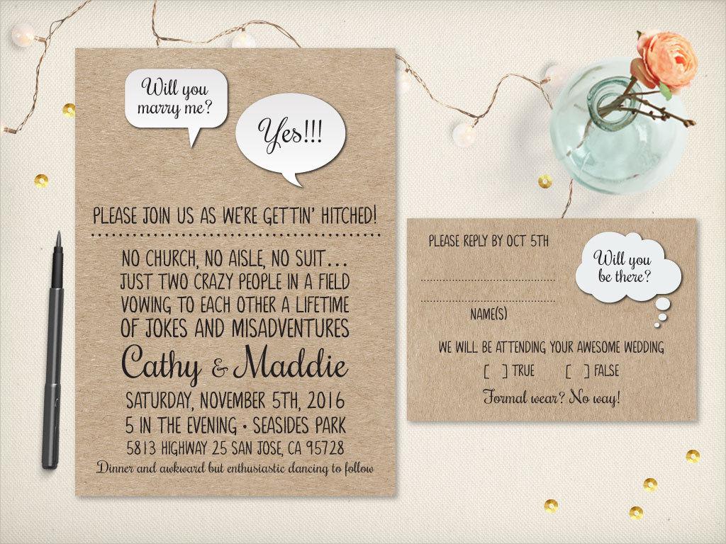 rustic wedding invitation2