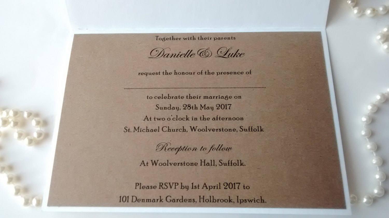 rustic wedding party invitation