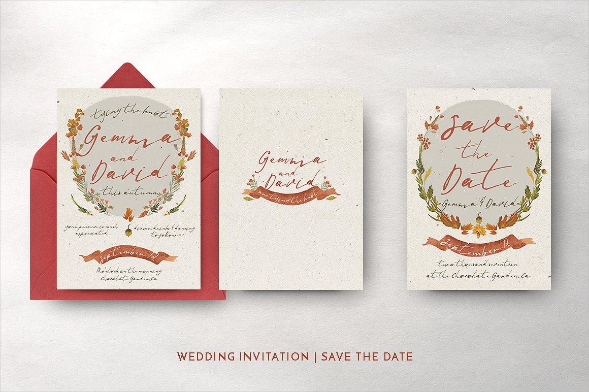 Simple Fall Wedding Invitation: Simple Fall Wedding Invitations At Reisefeber.org