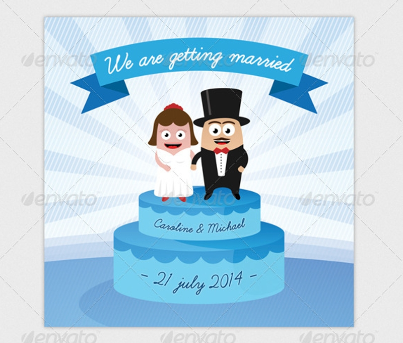 simple funny wedding invitation