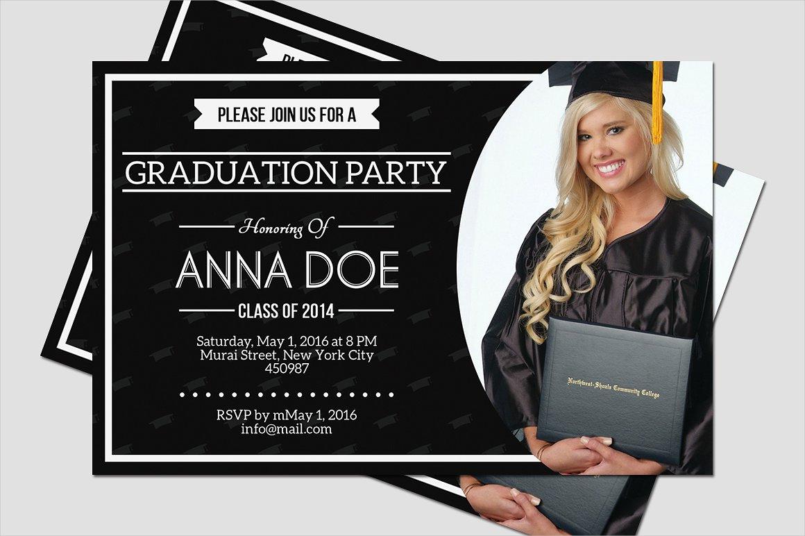 simple graduation party invitation1