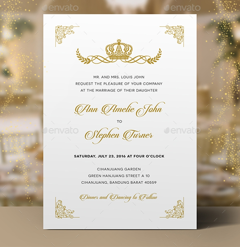 14 royal wedding invitation designs and examples psd ai