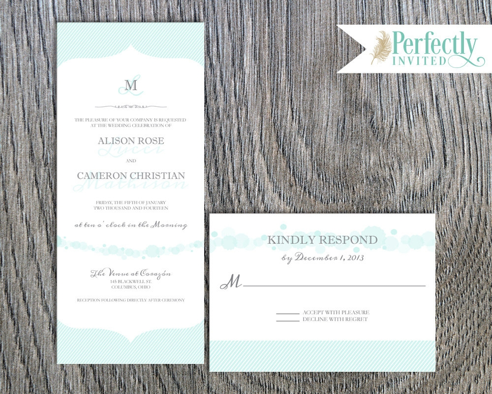 simple traditional wedding invitation