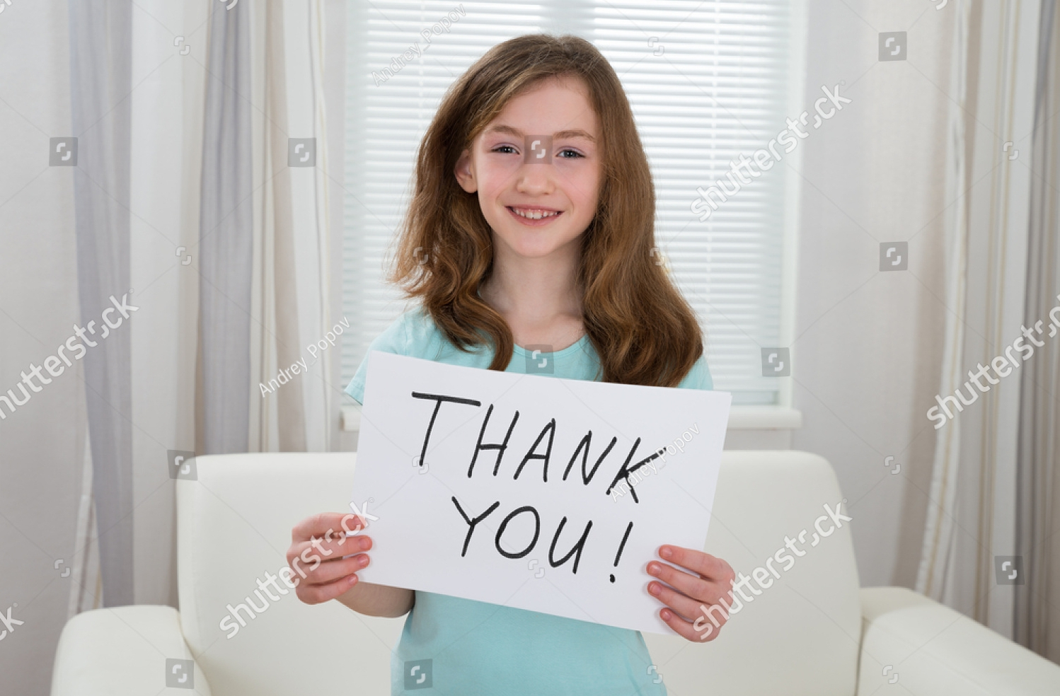simplistic kids thank you card