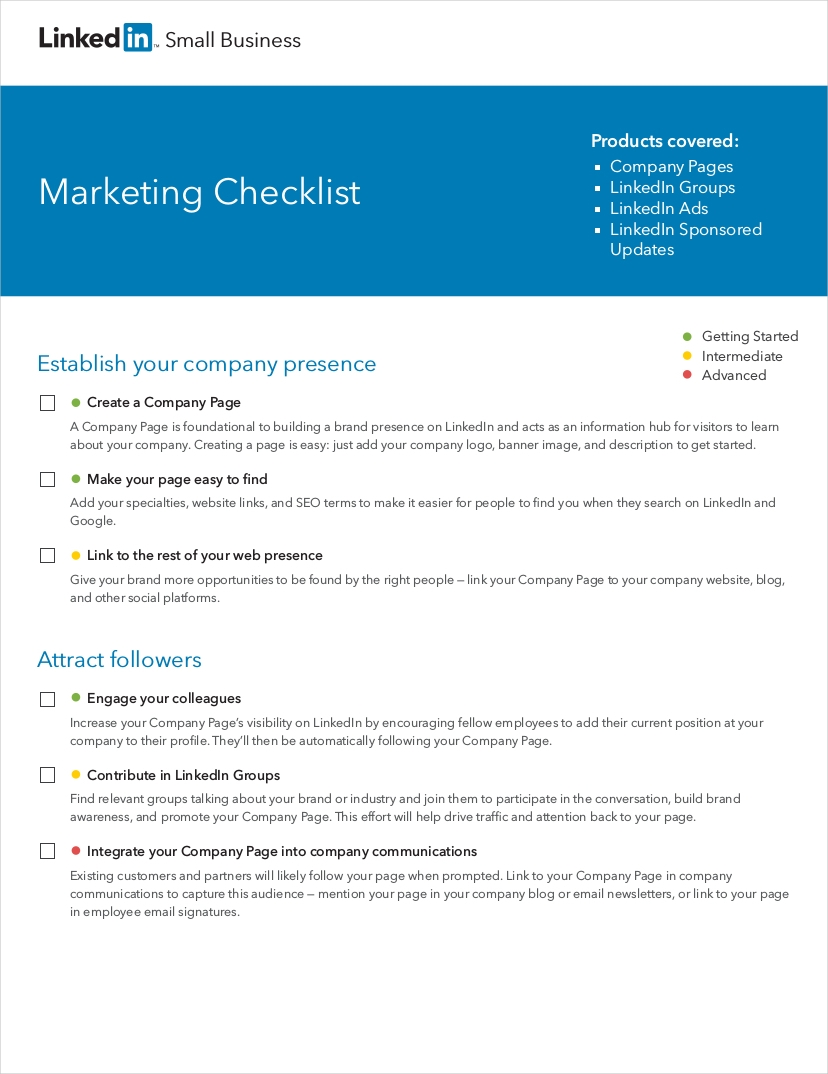 small business marketing checklist1