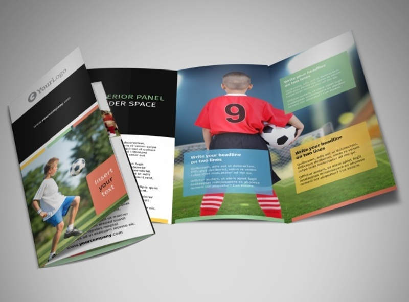 soccer sports camp brochure