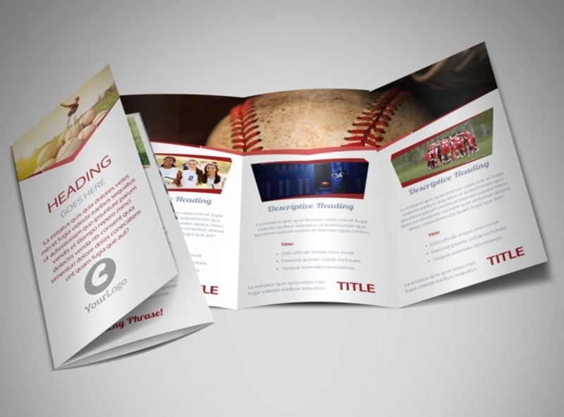 sports photography brochure